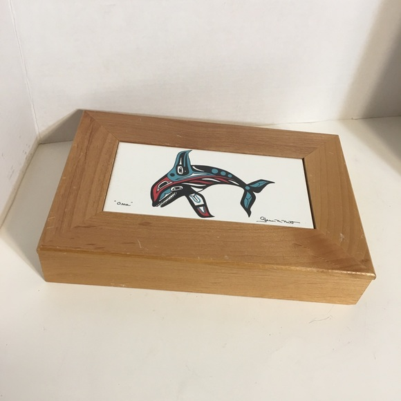 "Other - Native Art ""Orca"" Trinket Box!"